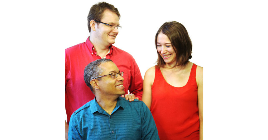 Clockwise, from top left: Benjamin Currall, Marina Kvaskoff and Dennis Dean II are part of BWH's thriving postdoc community.