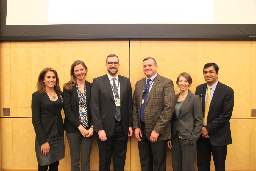 From left: Jessica Dudley, Melissa Spinks, Karl Laskowski, Anthony Massaro, Erika Pabo and Allen Kachalia