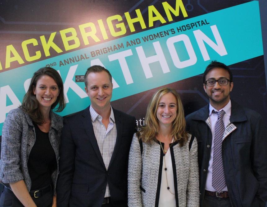 Brigham Innovation Hub team members from left to right: Melissa Spinks, Joshua Di Frances, Lesley Solomon and Pothik Chatterjee