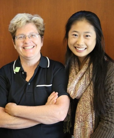 Margaret Costello, PhD, RN (left) and Cathy Hao (right).