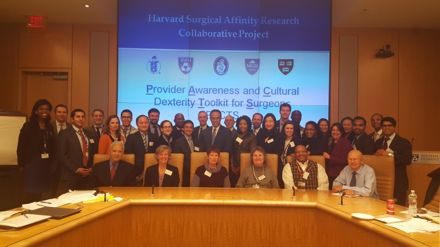 A group of patient stakeholders and experts from across the Harvard community and the U.S. gathered in the Shapiro Boardroom for the PACTS Development Workshop.