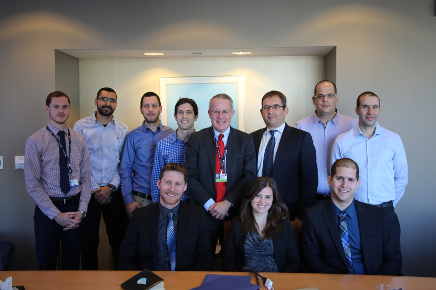 Members of Israel's Peekaboo team visit BWH to meet with Ronen Rozenblum and David Bates, as well as Yoval Barak-Corren, of the Ruth and Bruce Rappaport Faculty of Medicine at the Technion - Israel Institute of Technology in Israel.