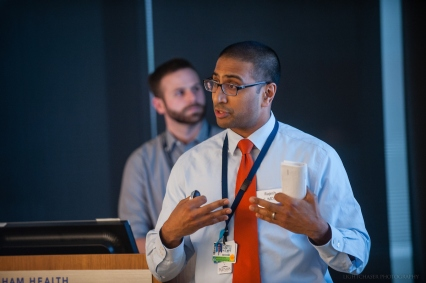 "Track B finalist Rajesh Patel presents, ""Sentry: Side Effect Notification Tool for Rxs."""