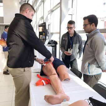 Stop the Bleed: Attendees learned bleeding control skills via tourniquet application, wound packing and pressure application.